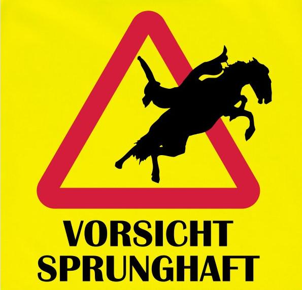 """Warnweste """"Vorsicht Sprunghaft"""""""